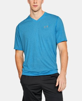 Men's UA Threadborne Siro V-Neck T-Shirt FREE U.S. SHIPPING 6  Colors Available $29.99