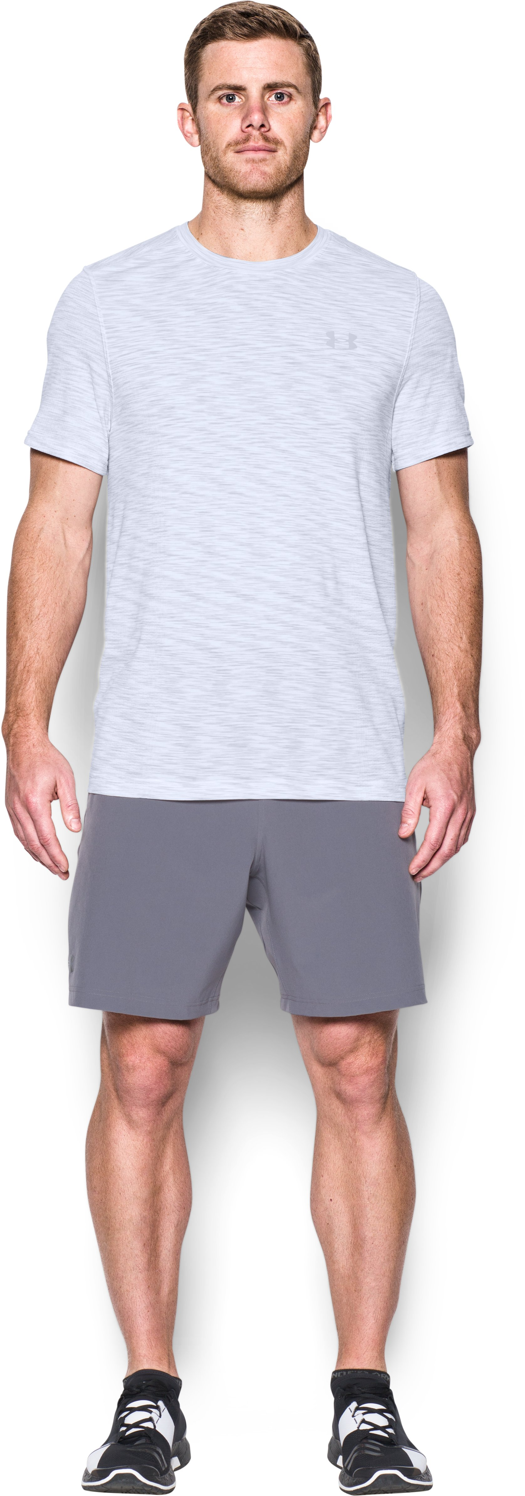 Men's UA Seamless T-Shirt, White, Front