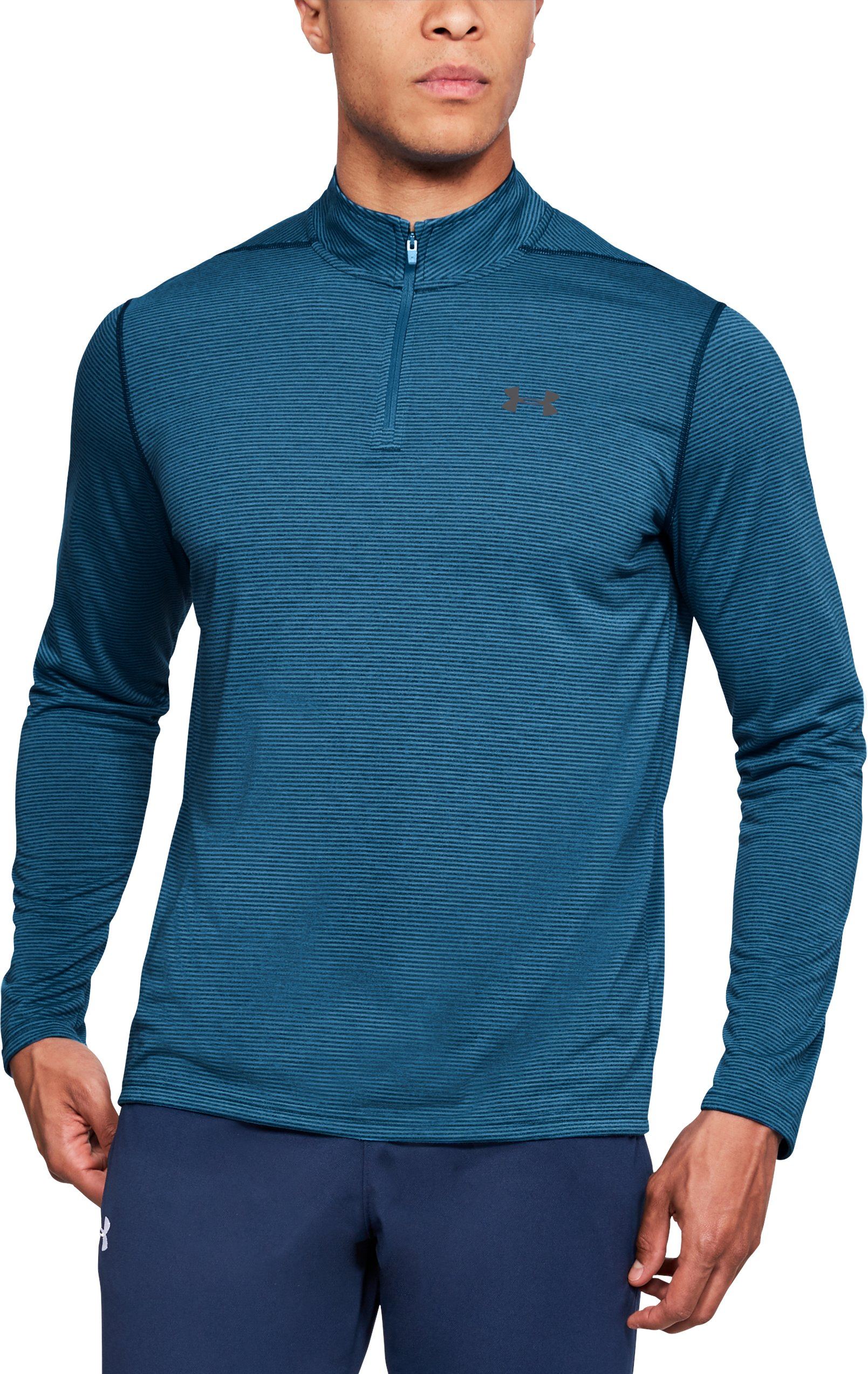 Men's UA Threadborne Siro ¼ Zip, MOROCCAN BLUE, undefined