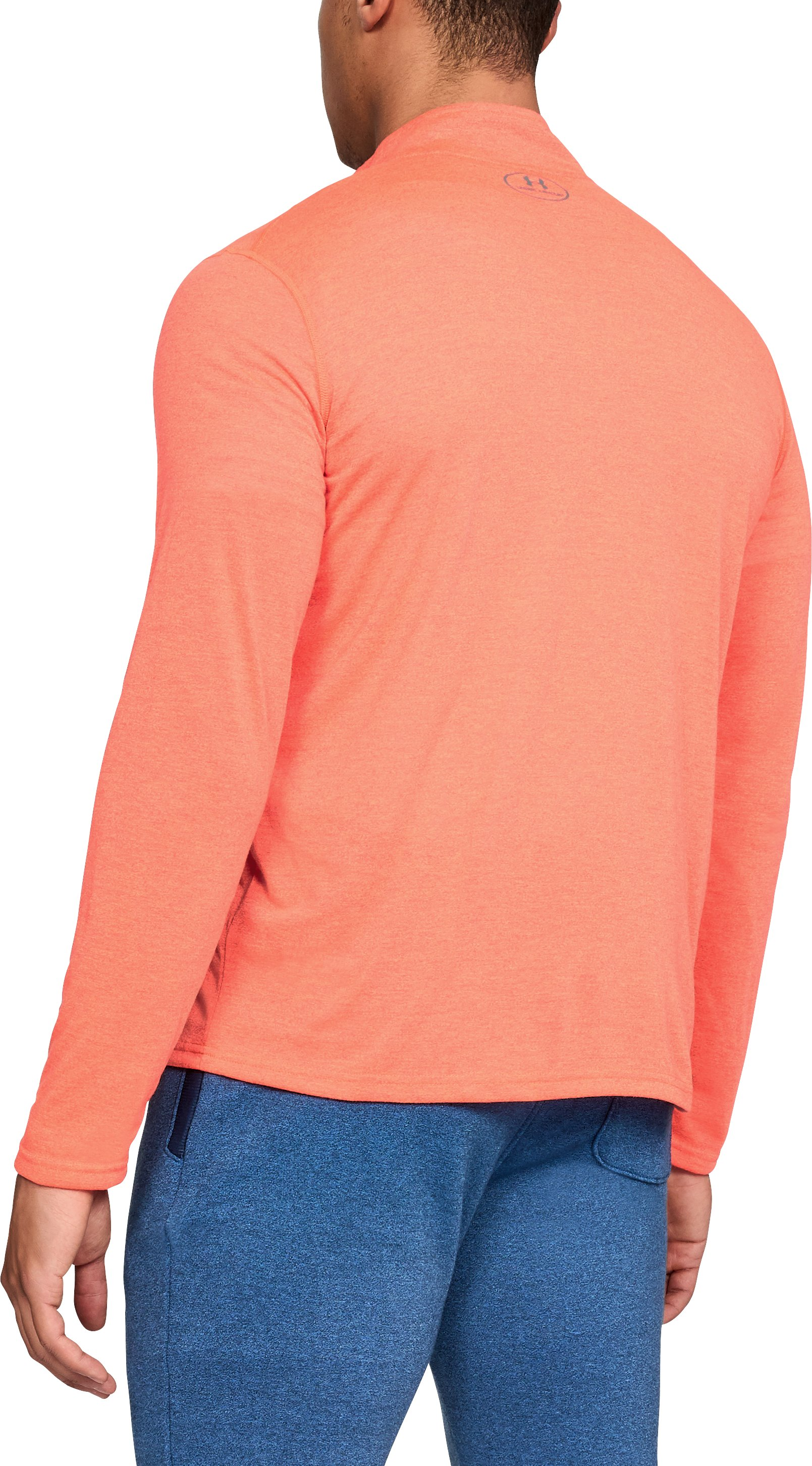 Men's UA Threadborne Siro ¼ Zip, NEON CORAL,