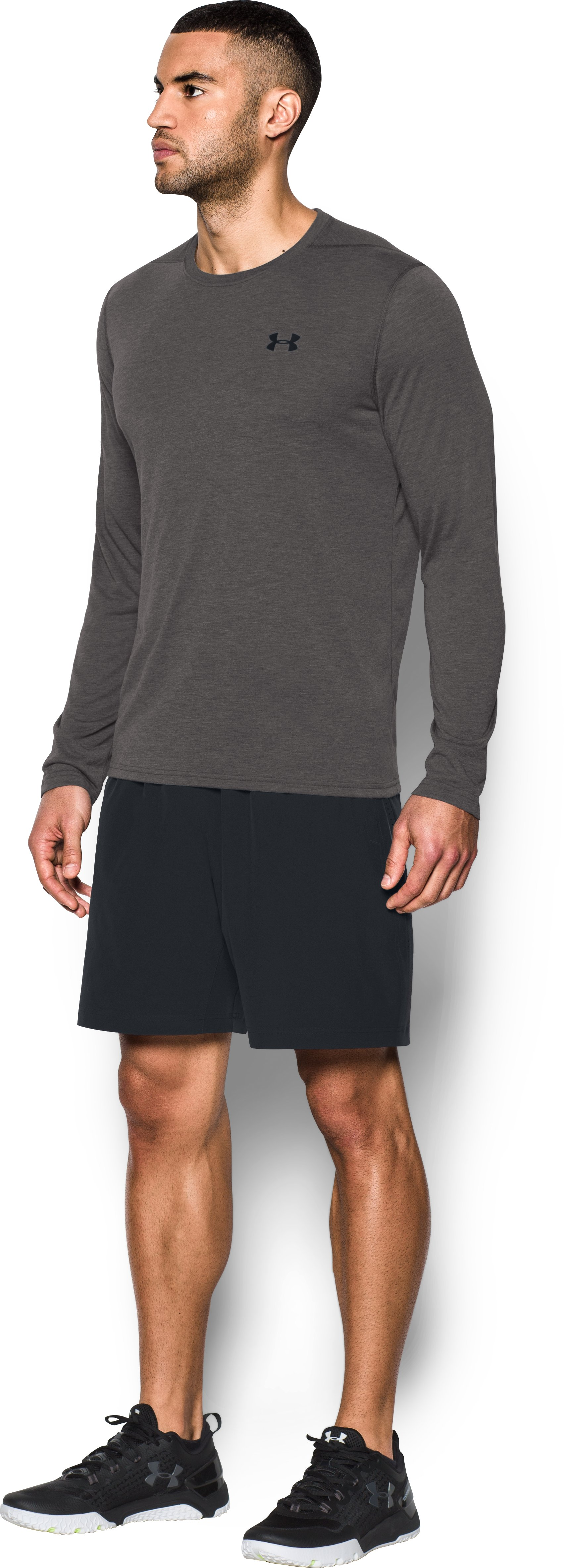 Men's UA Threadborne Siro Long Sleeve T-Shirt, Carbon Heather, undefined