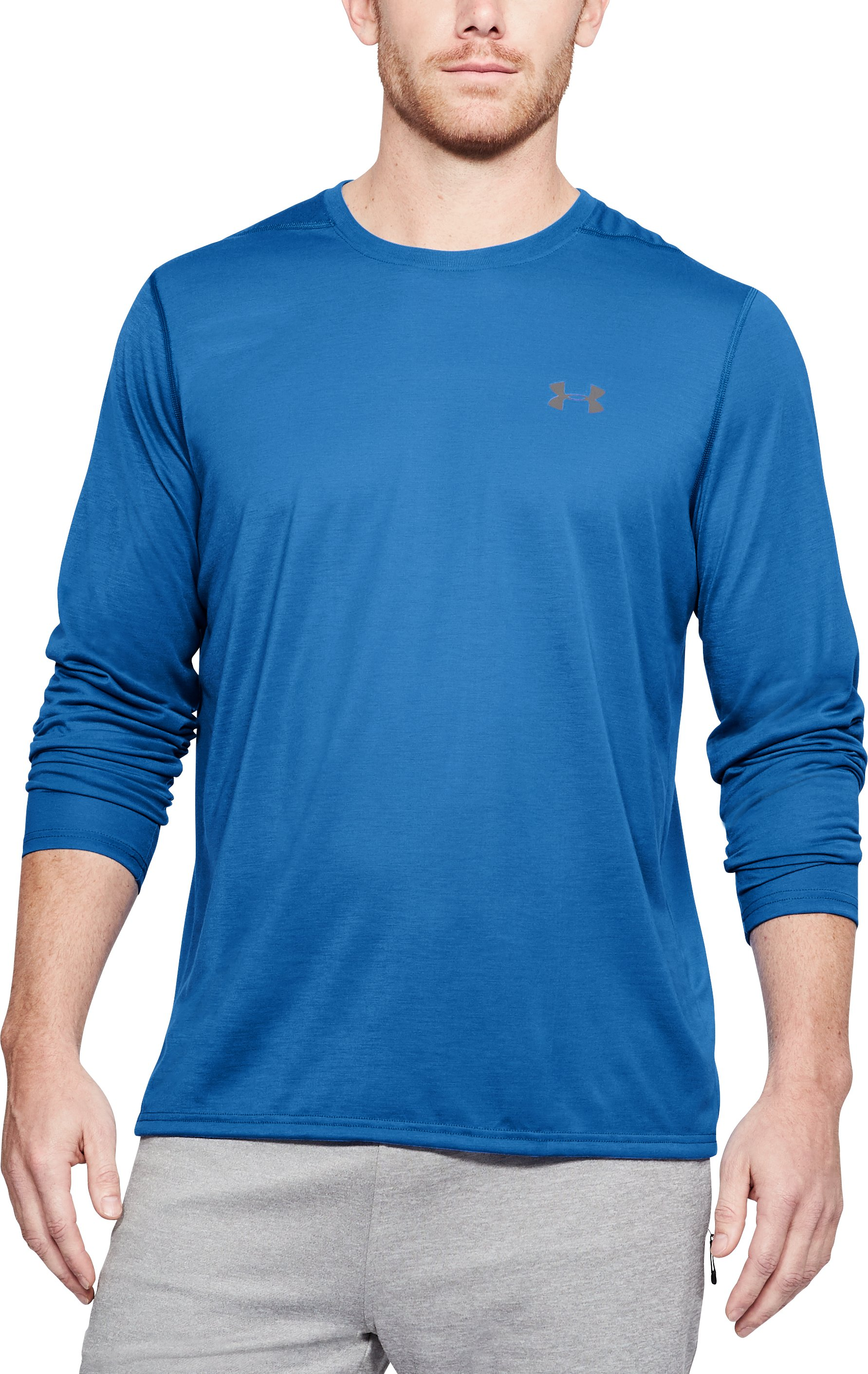 Men's UA Threadborne Siro Long Sleeve T-Shirt, Mediterranean