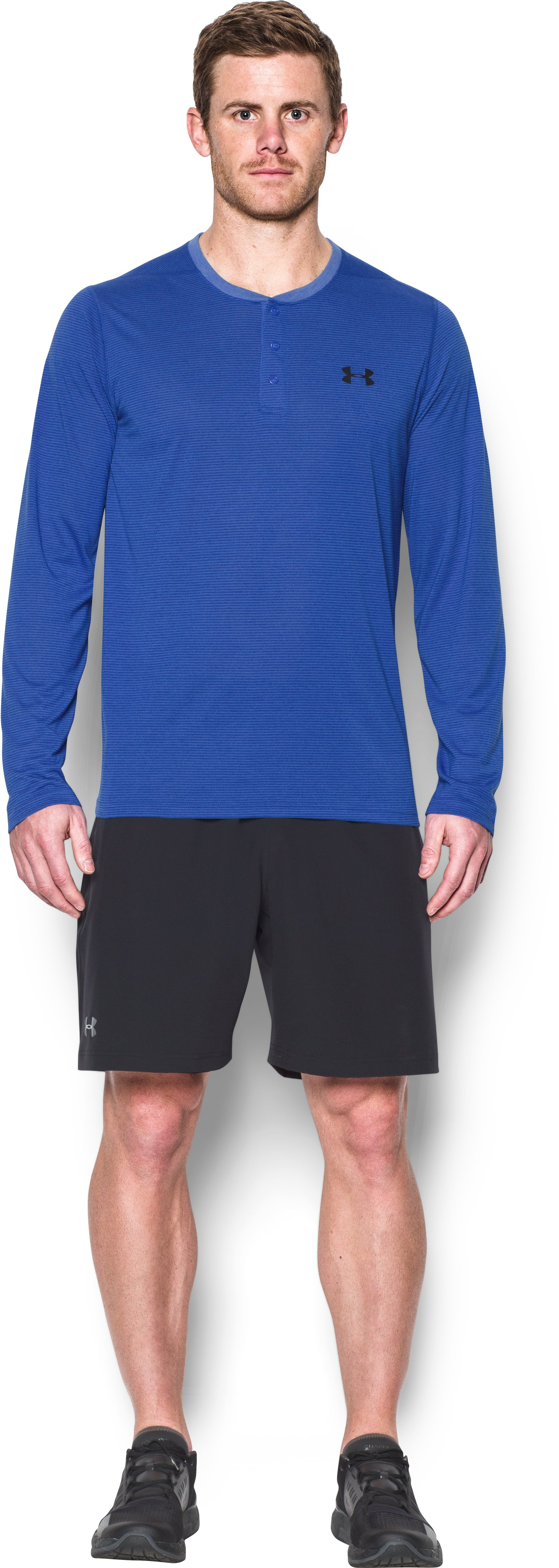 Men's UA Threadborne Siro Henley, BLUE MARKER