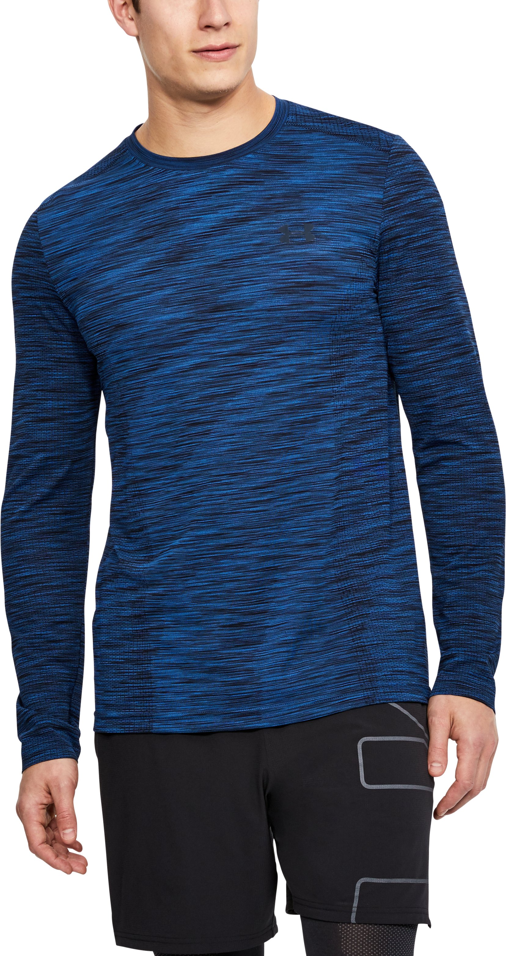 Men's UA Threadborne Seamless Long Sleeve T-Shirt, MOROCCAN BLUE