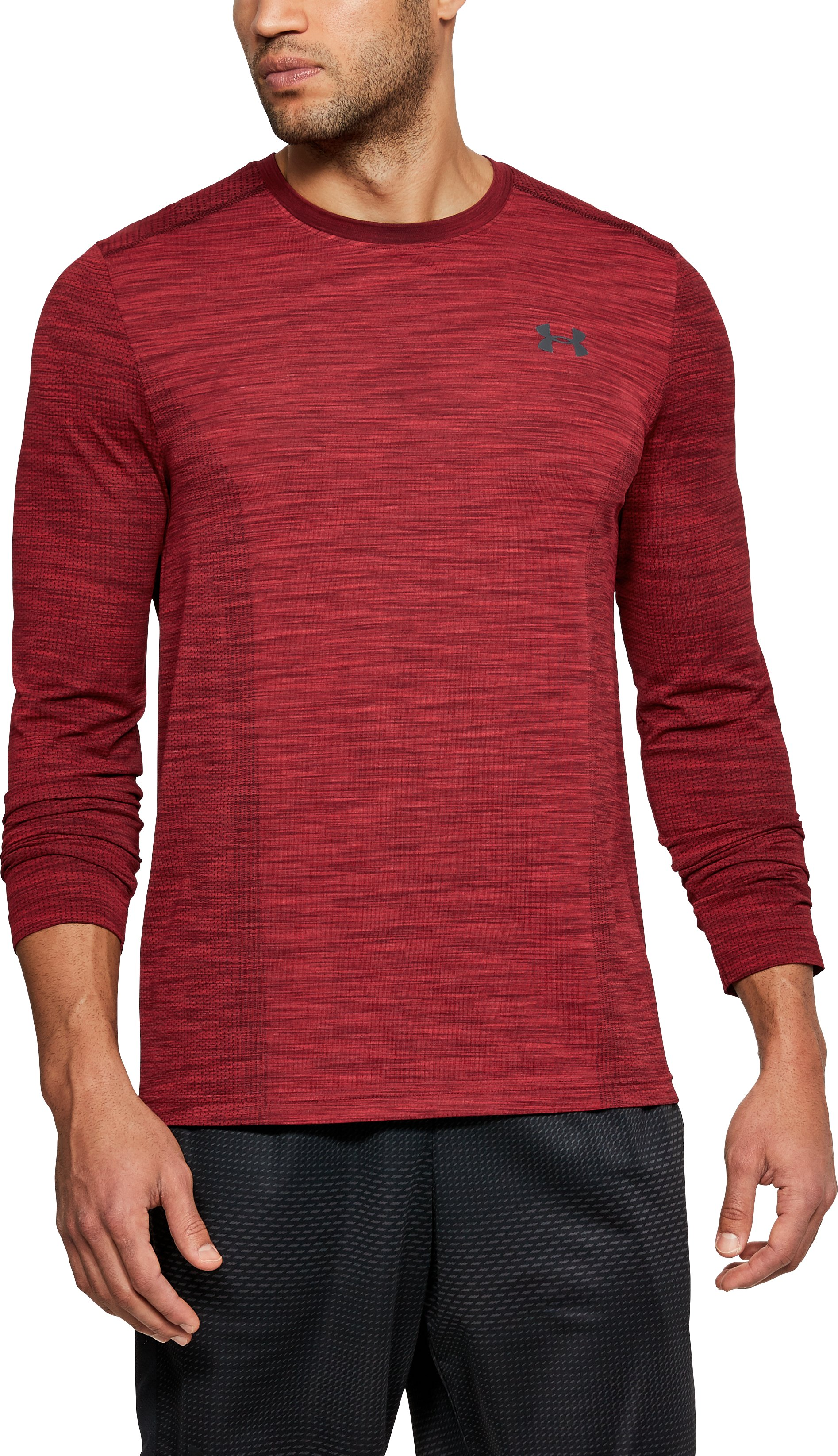 Men's UA Threadborne Seamless Long Sleeve T-Shirt, Pierce
