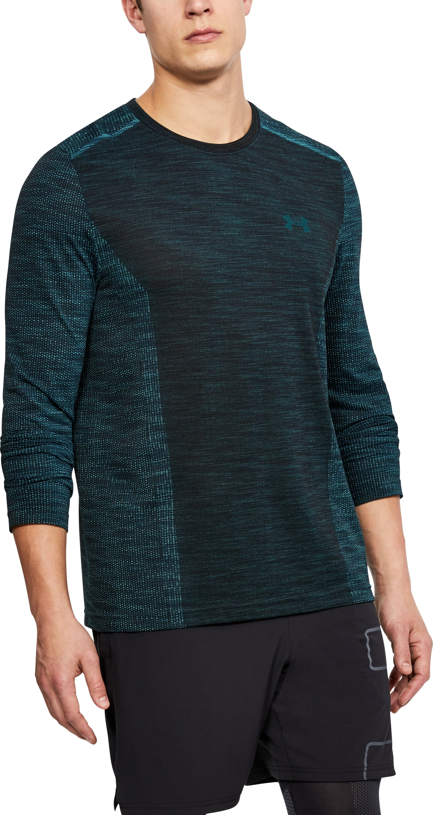 Men's UA Threadborne Seamless Long Sleeve T-Shirt, TOURMALINE TEAL