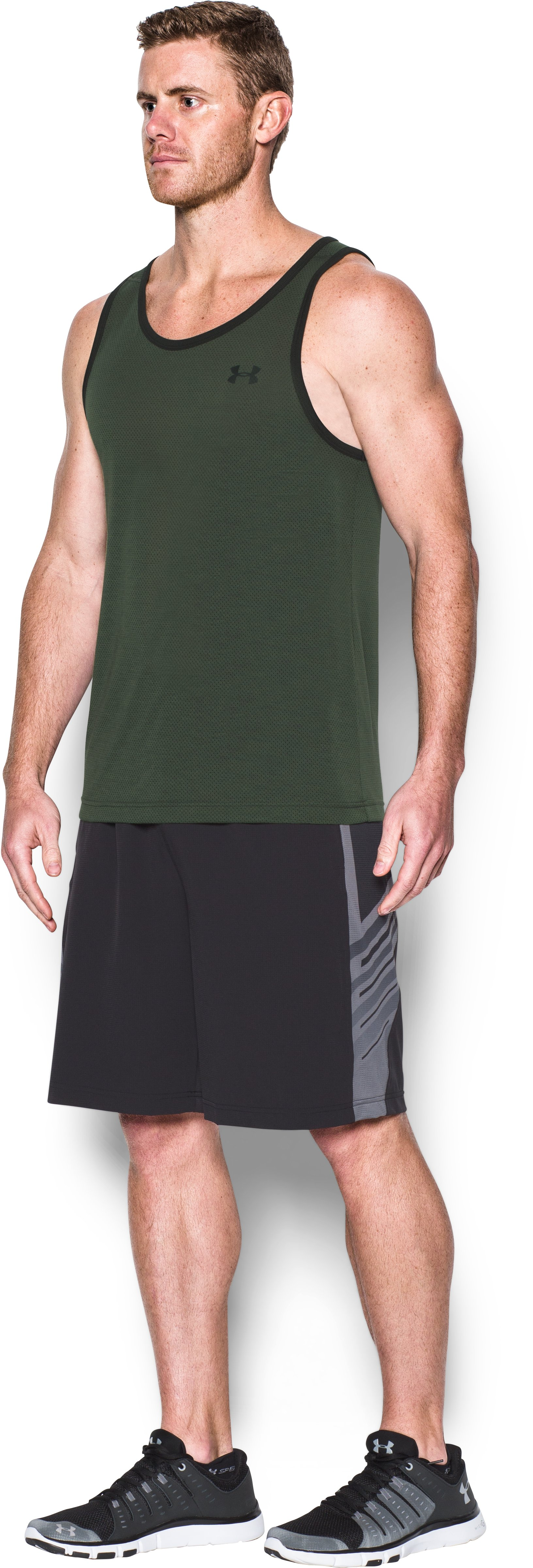 Men's UA Threadborne Siro Tank, DOWNTOWN GREEN