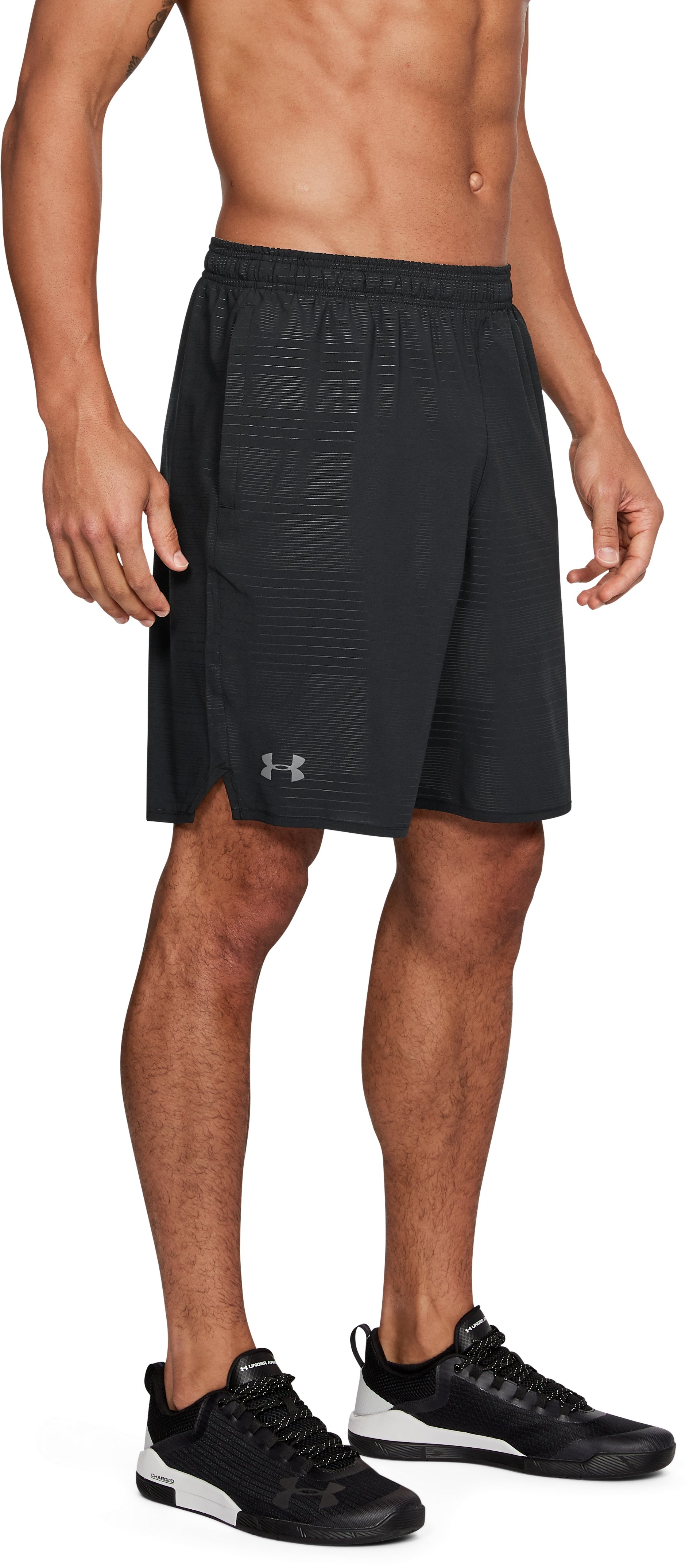 Men's UA Qualifier Printed Shorts, Black