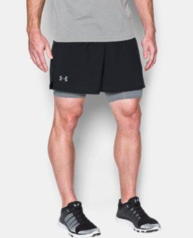 New Arrival  Men's UA Qualifier 2-in-1 Shorts   2 Colors $59.99