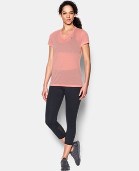 Women's UA Threadborne Train Pointelle V-Neck  1 Color $16.99