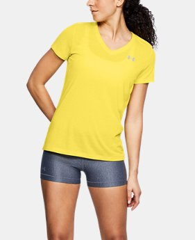 Best Seller Women's UA Threadborne Train Twist V-Neck  1  Color Available $29.99