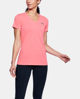 Best Seller Women's UA Threadborne Train Twist V-Neck FREE U.S. SHIPPING 3  Colors Available $29.99