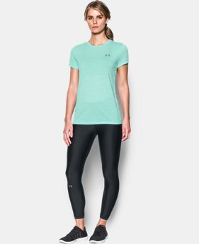 New Arrival Women's UA Threadborne Train Stripe Crew  1 Color $29.99