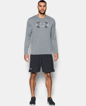 New Arrival Men's UA Run Overlap Long Sleeve T-Shirt   $34.99