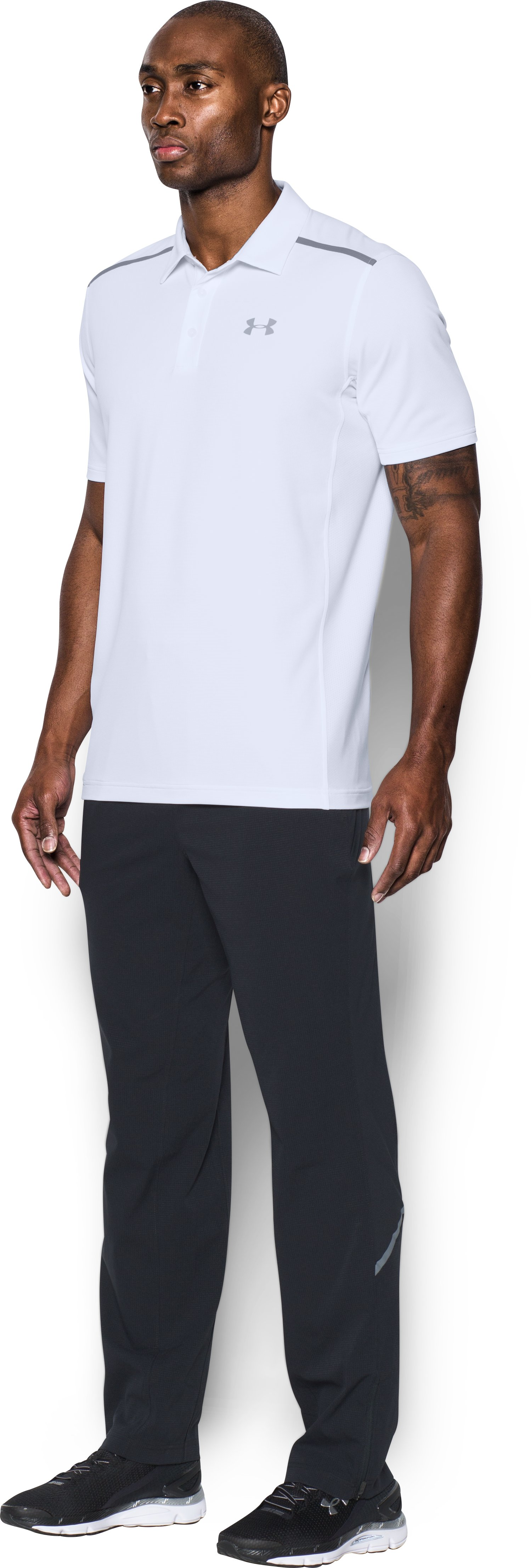 Men's UA Threadborne Center Court Polo, White, undefined