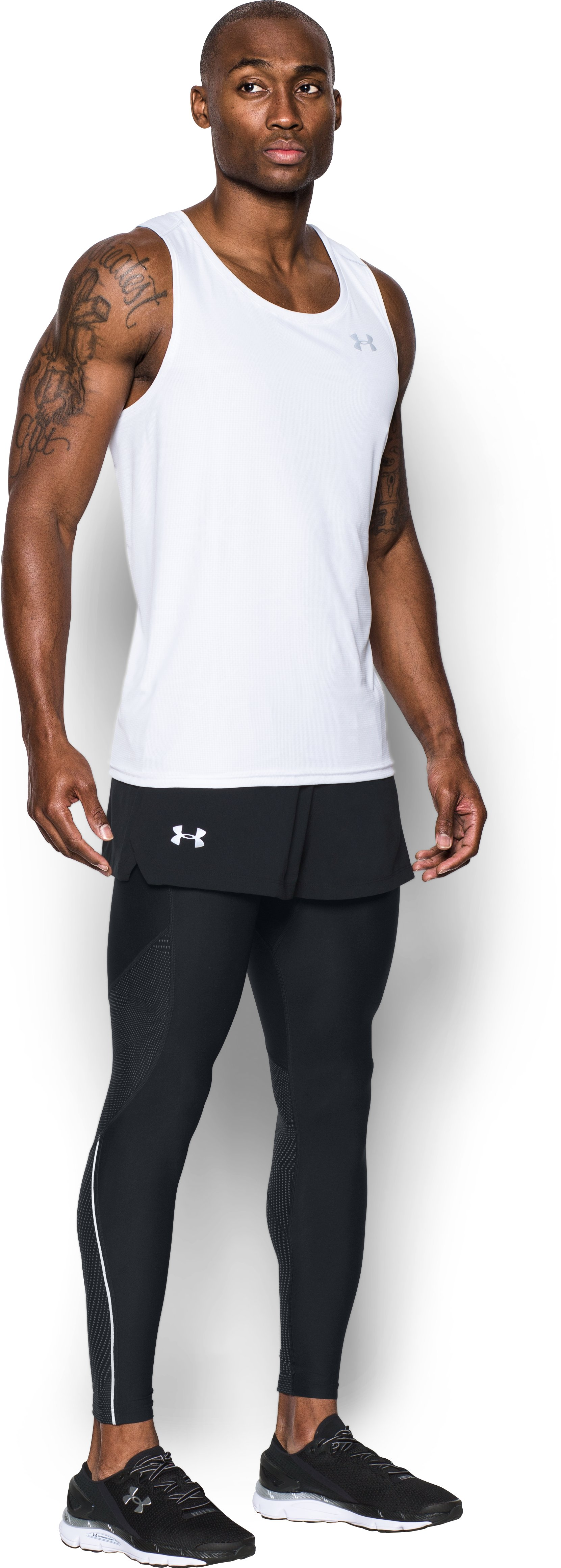 Men's UA Launch Split Shorts, Black