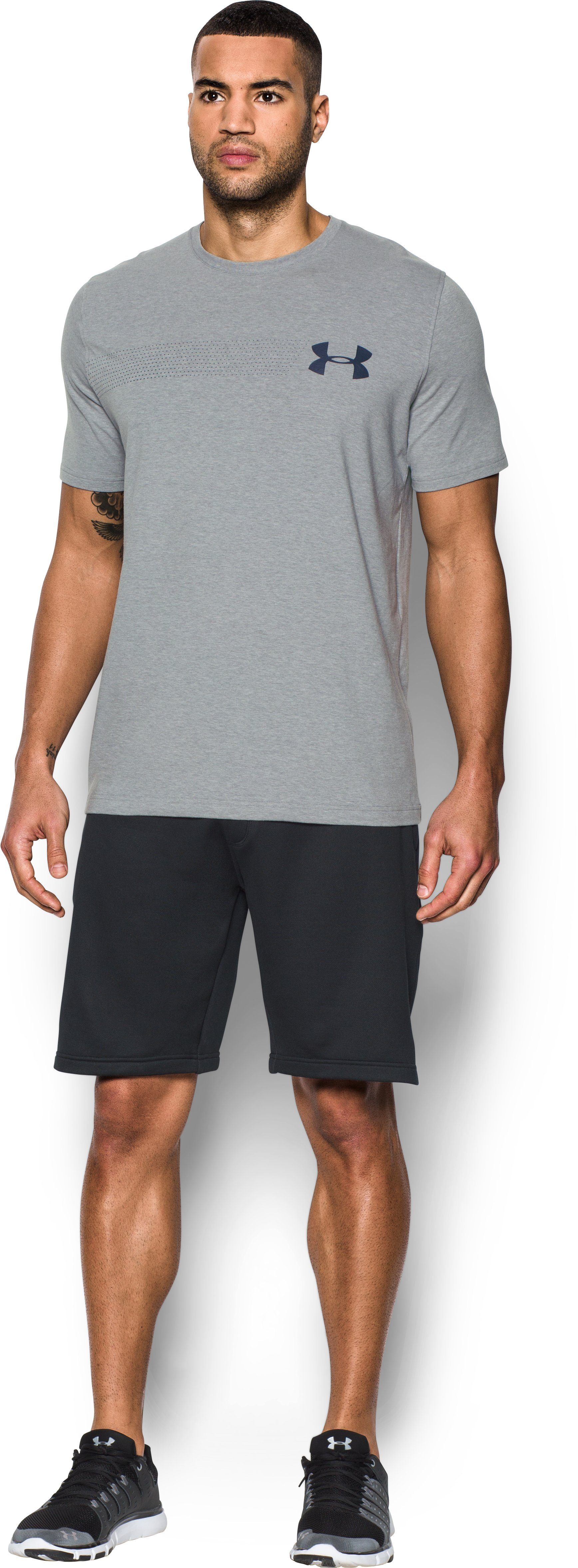 Men's UA Chest Logo T-Shirt , True Gray Heather