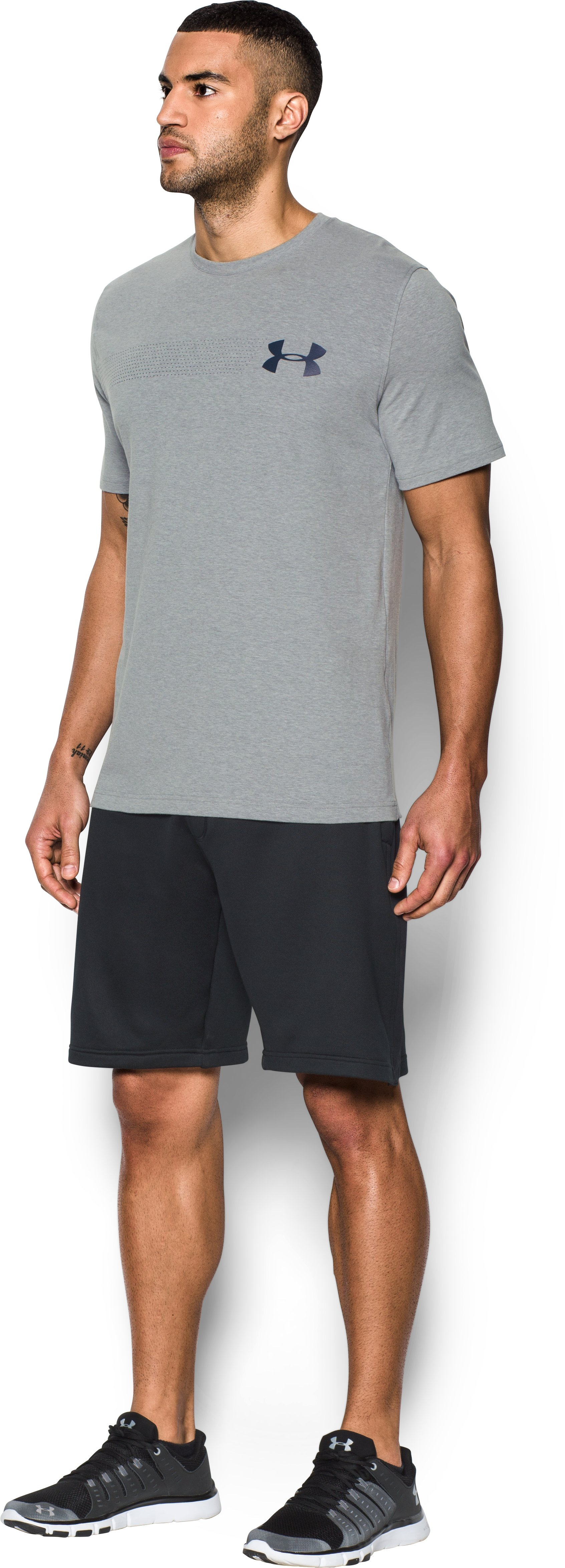 Men's UA Chest Logo T-Shirt , True Gray Heather,