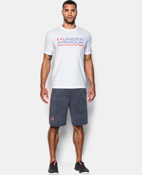 Men's UA Wordmark Lockup T-Shirt  1 Color $17.49