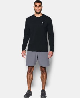 Best Seller Men's UA Chest Logo Long Sleeve T-Shirt   4  Colors Available $29.99