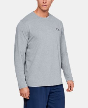 Best Seller  Men's UA Chest Logo Long Sleeve T-Shirt   1  Color Available $34.99