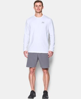 Best Seller Men's UA Chest Logo Long Sleeve T-Shirt   2 Colors $29.99