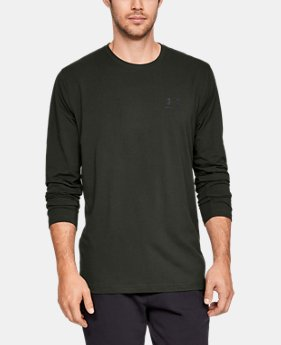 Best Seller Men's UA Chest Logo Long Sleeve T-Shirt   1  Color Available $29.99