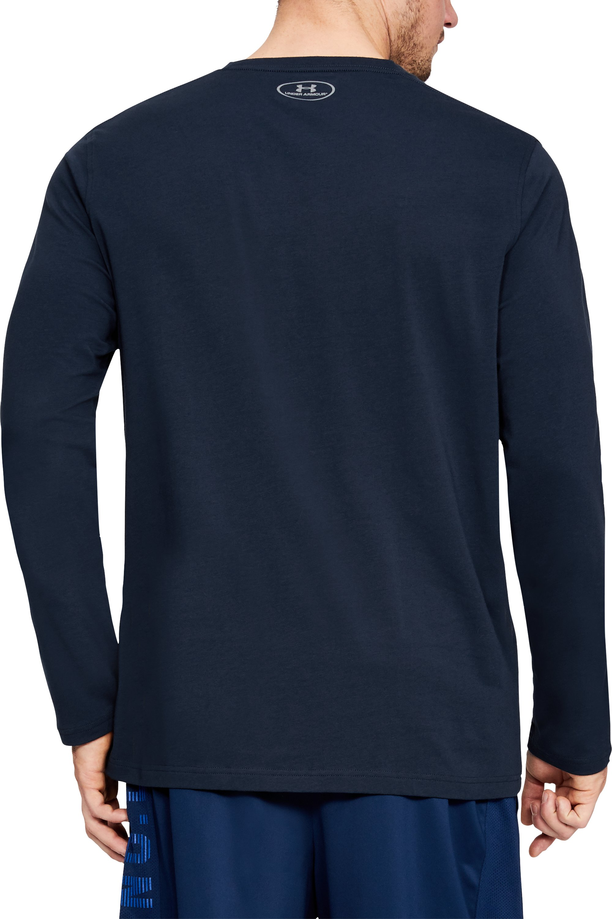 Men's UA Chest Logo Long Sleeve T-Shirt , Academy,