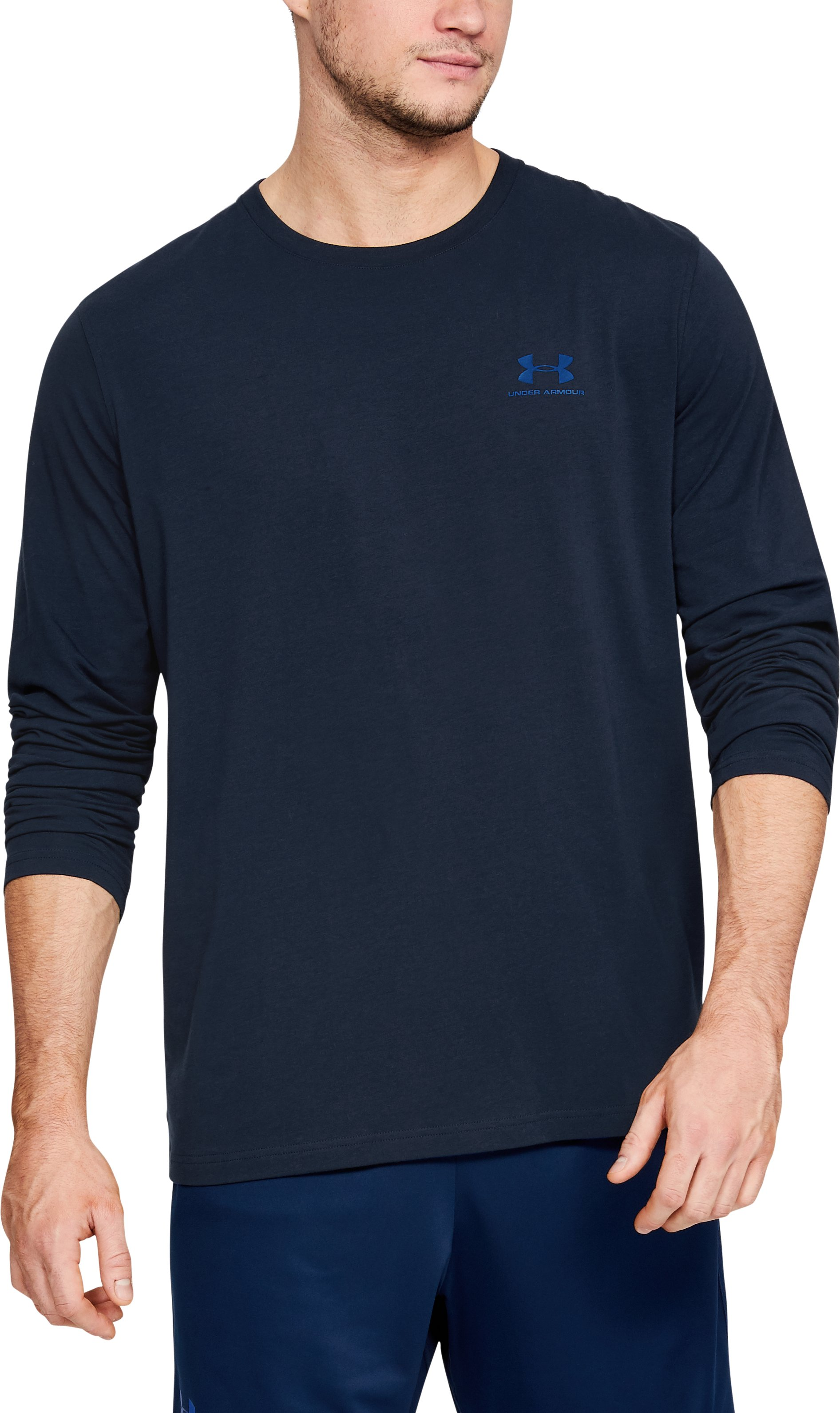 Men's UA Chest Logo Long Sleeve T-Shirt , Academy