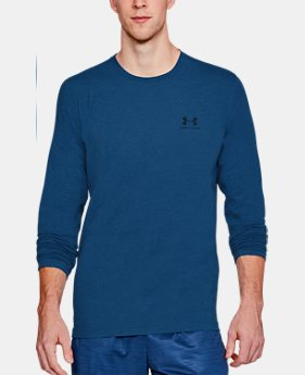 Best Seller Men's UA Chest Logo Long Sleeve T-Shirt   4 Colors $29.99