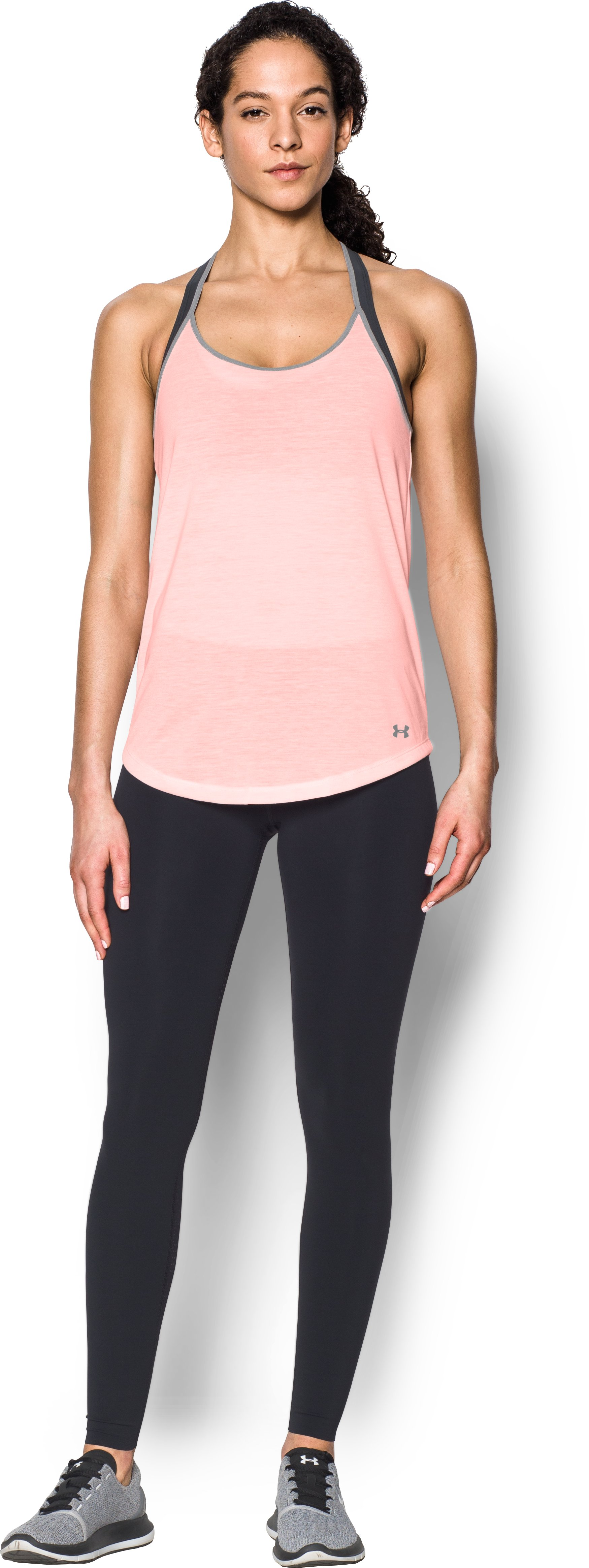Women's UA Threadborne Siro Strappy Tank, BALLET PINK, zoomed image