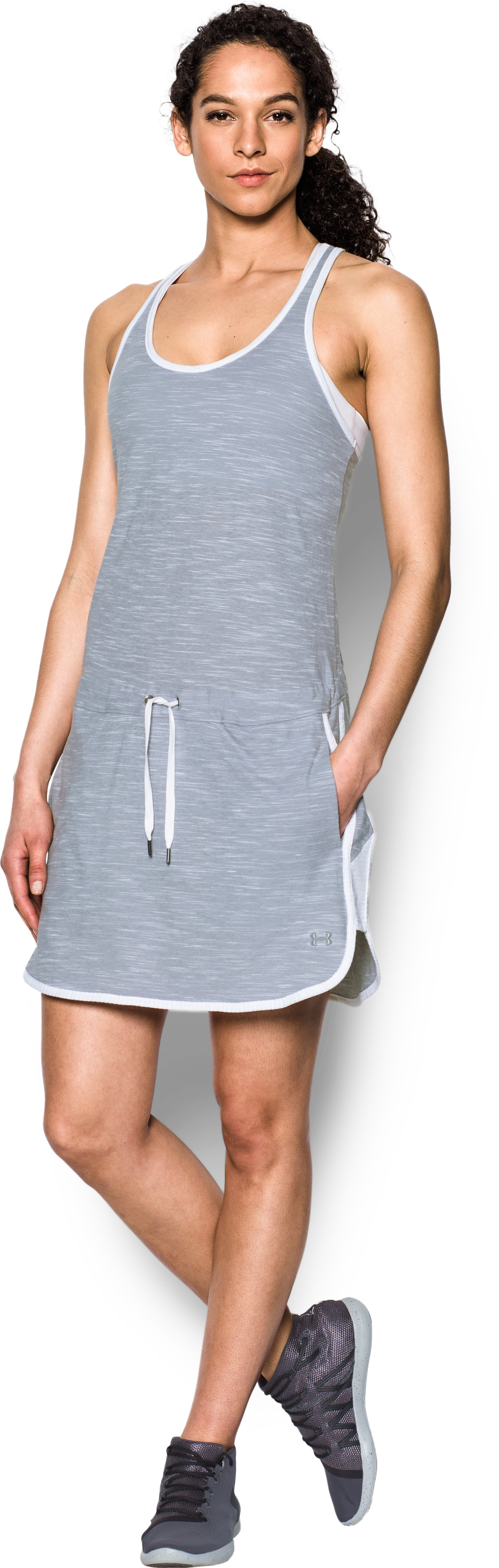 Women's UA Fashlete Dress, True Gray Heather