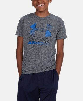 Best Seller Boys' UA Hybrid Big Logo T-Shirt  9 Colors $14.99 to $19.99