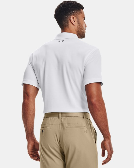 Men's UA Tech Polo, White, pdpMainDesktop image number 4
