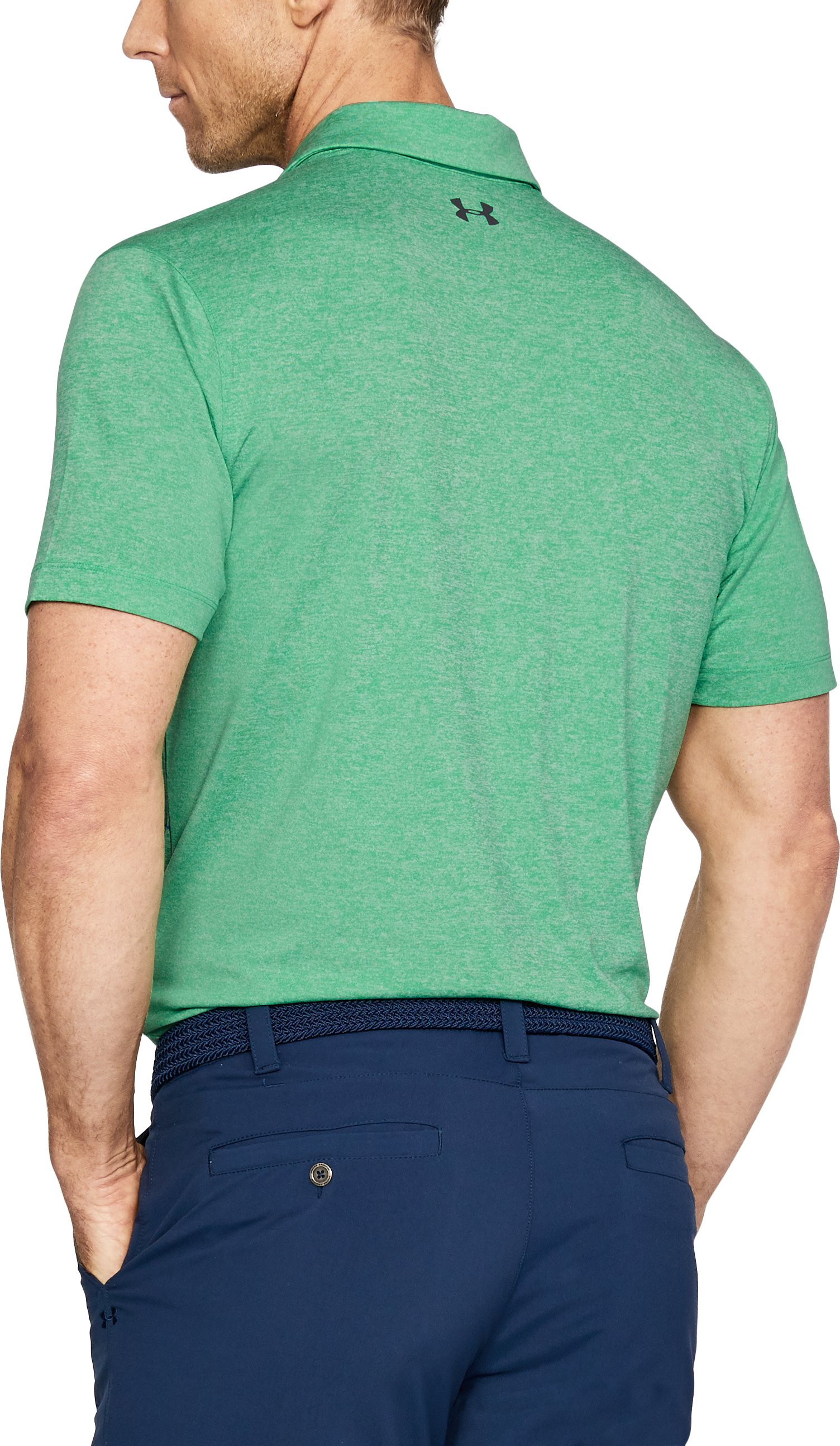 Men's UA CoolSwitch Pivot Polo, JADE LIGHT HEATHER,