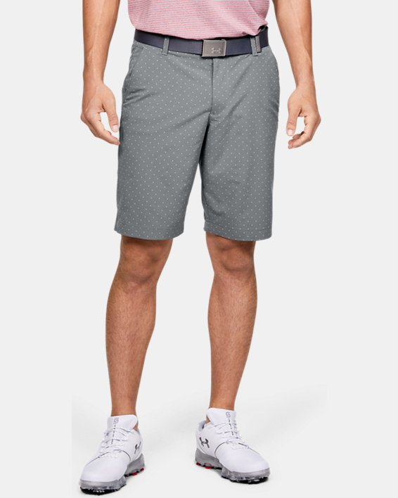 Men's UA Match Play Textured Shorts, Gray, pdpMainDesktop image number 0