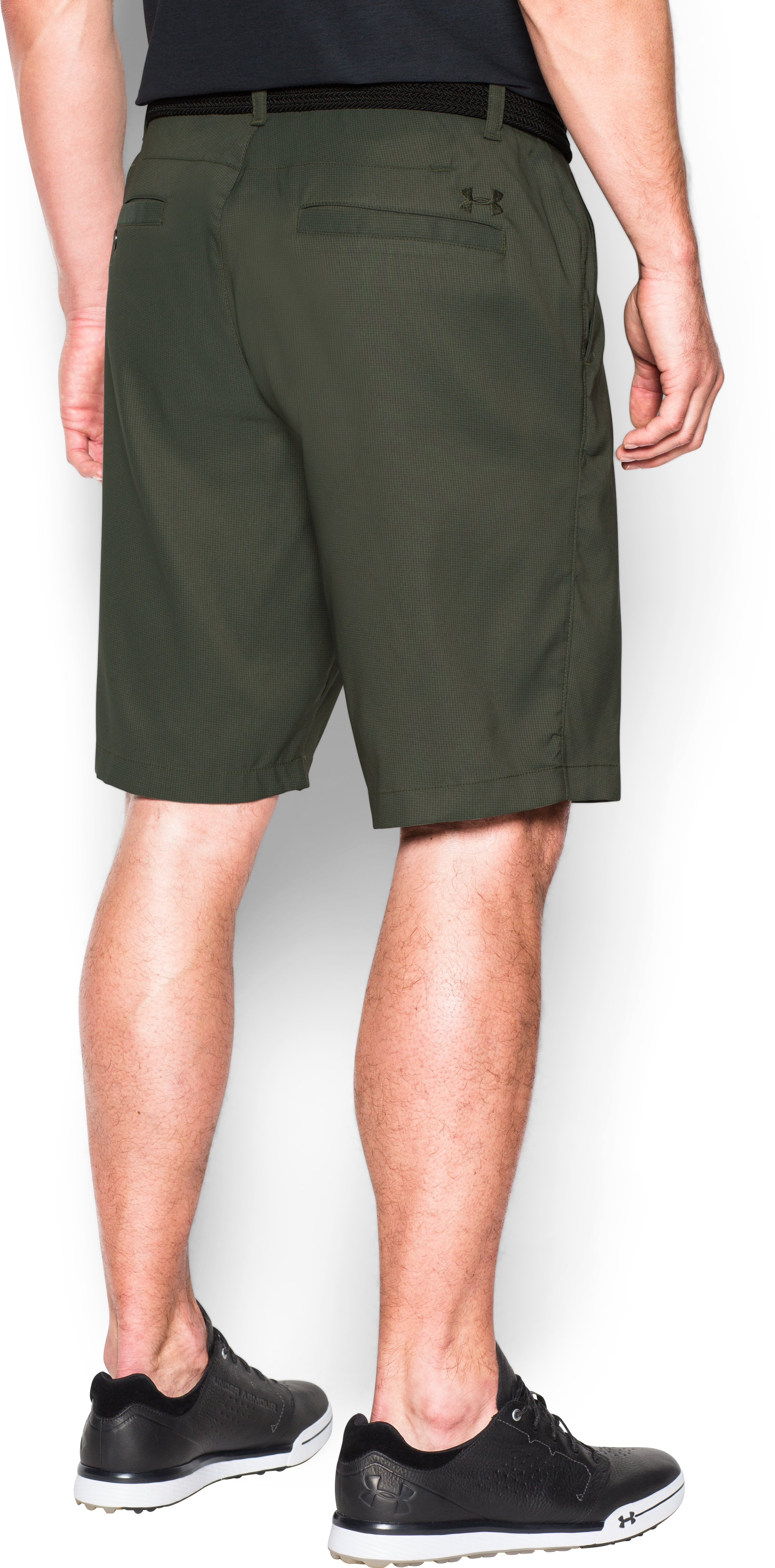 Men's UA Match Play Textured Shorts, DOWNTOWN GREEN, undefined