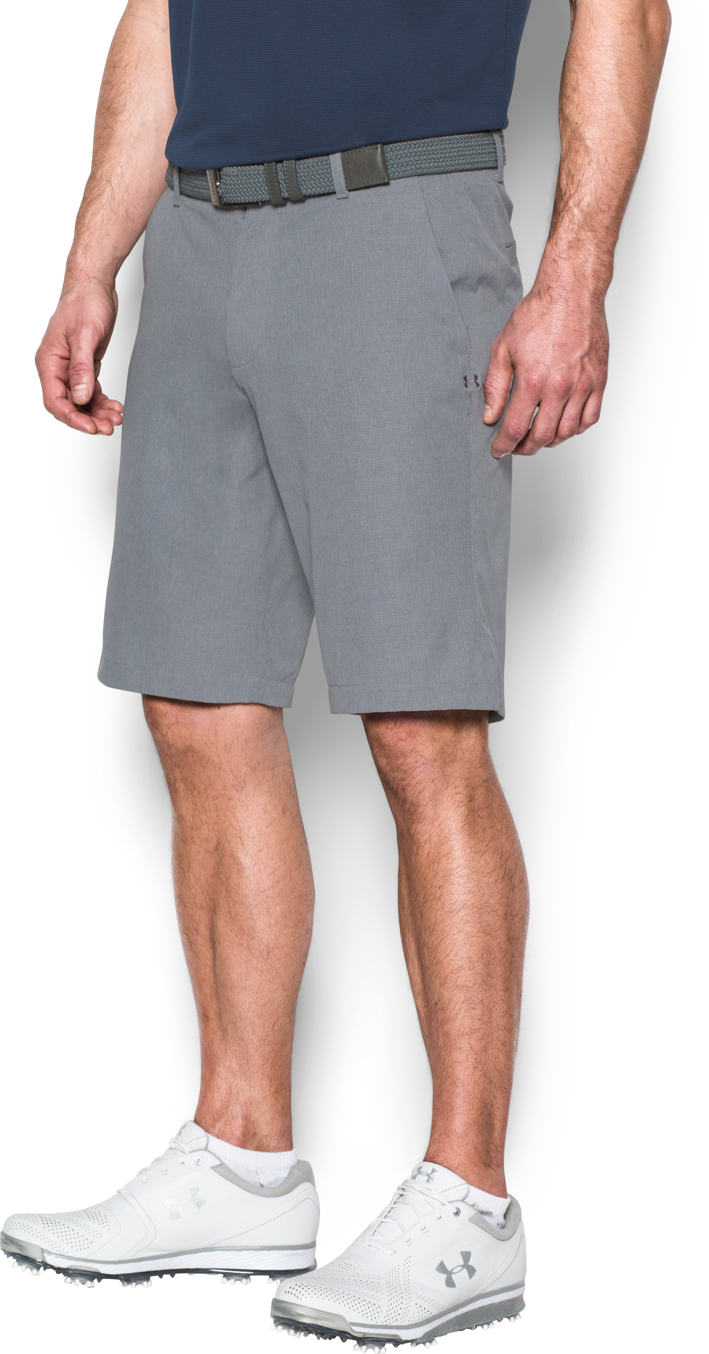 Men's UA Match Play Vented Tapered Shorts, Steel