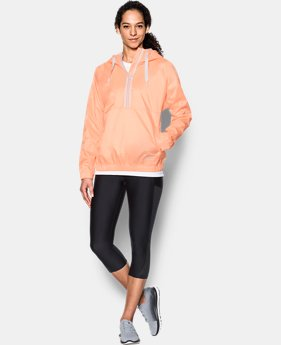 Women's UA Woven 1/2 Zip Hoodie  1 Color $48.99 to $52.99