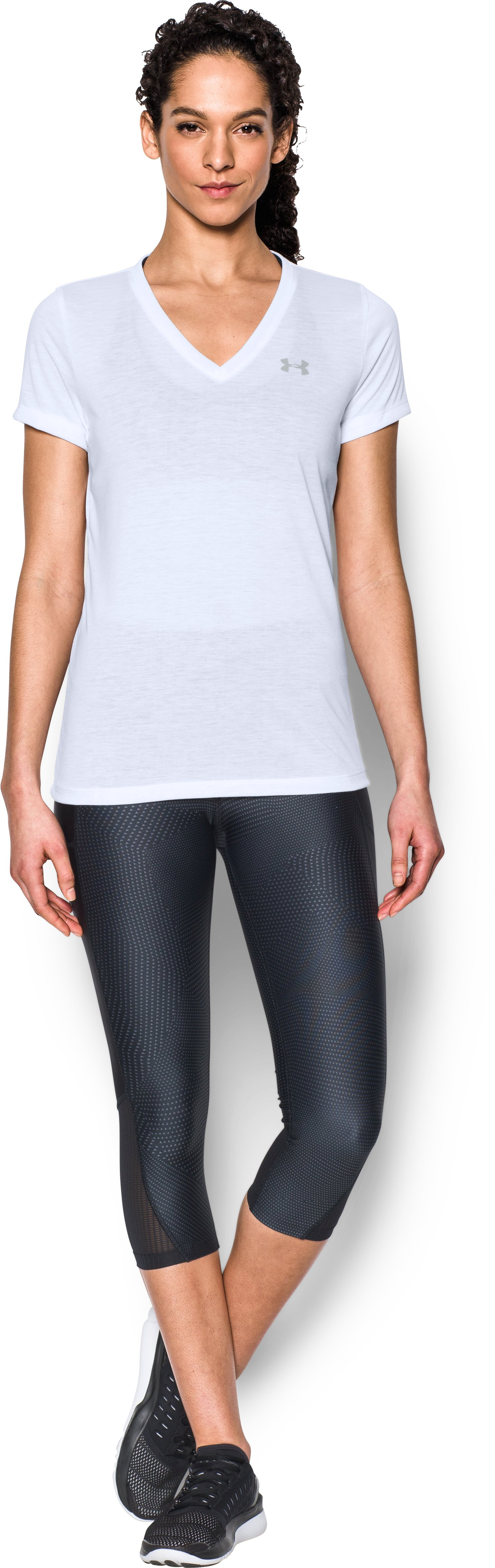 Women's UA Threadborne Train V-Neck, White