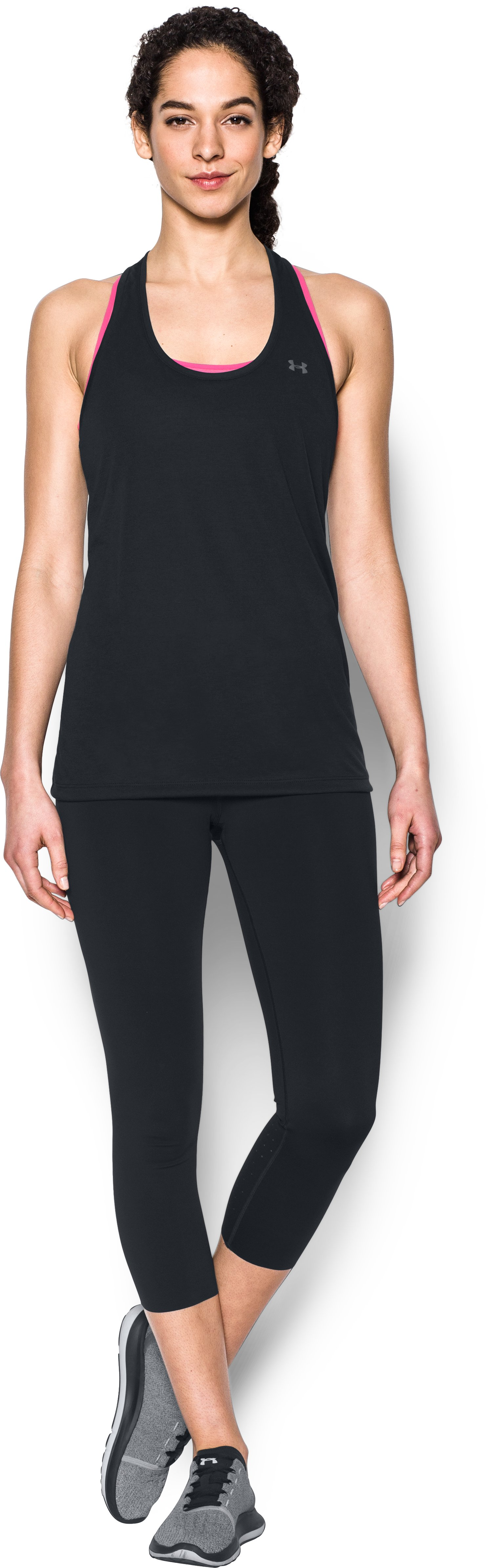 Women's UA Threadborne Train Tank, Black