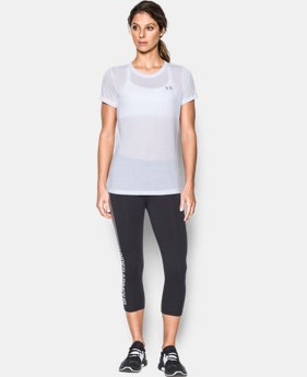 Best Seller Women's UA Threadborne Train Crew  3  Colors Available $29.99