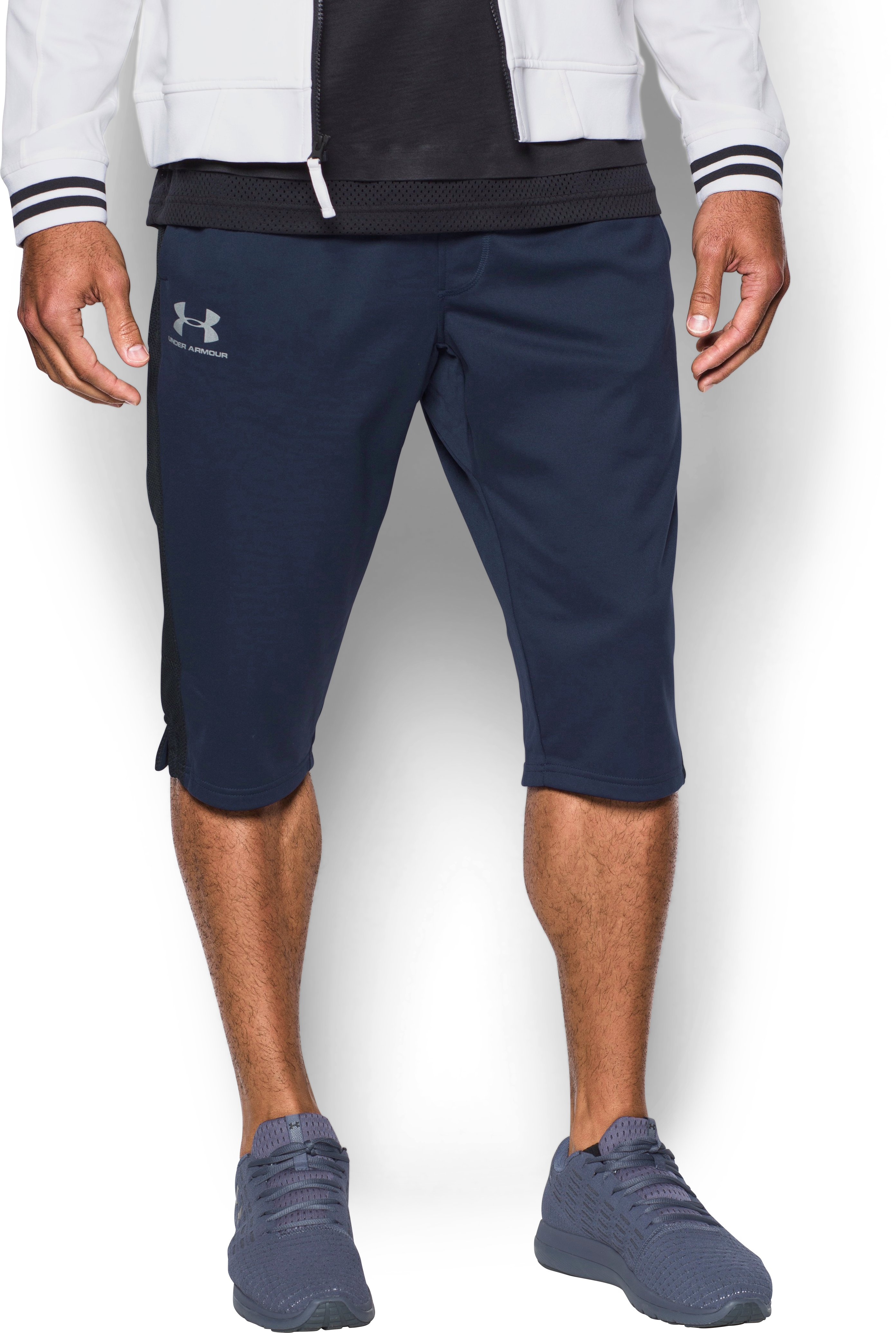 Men's UA Sportstyle ½ Pants, Midnight Navy,