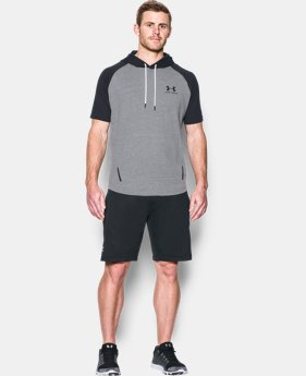 Men's UA Sportstyle Short Sleeve Hoodie FREE U.S. SHIPPING 1  Color Available $39.99