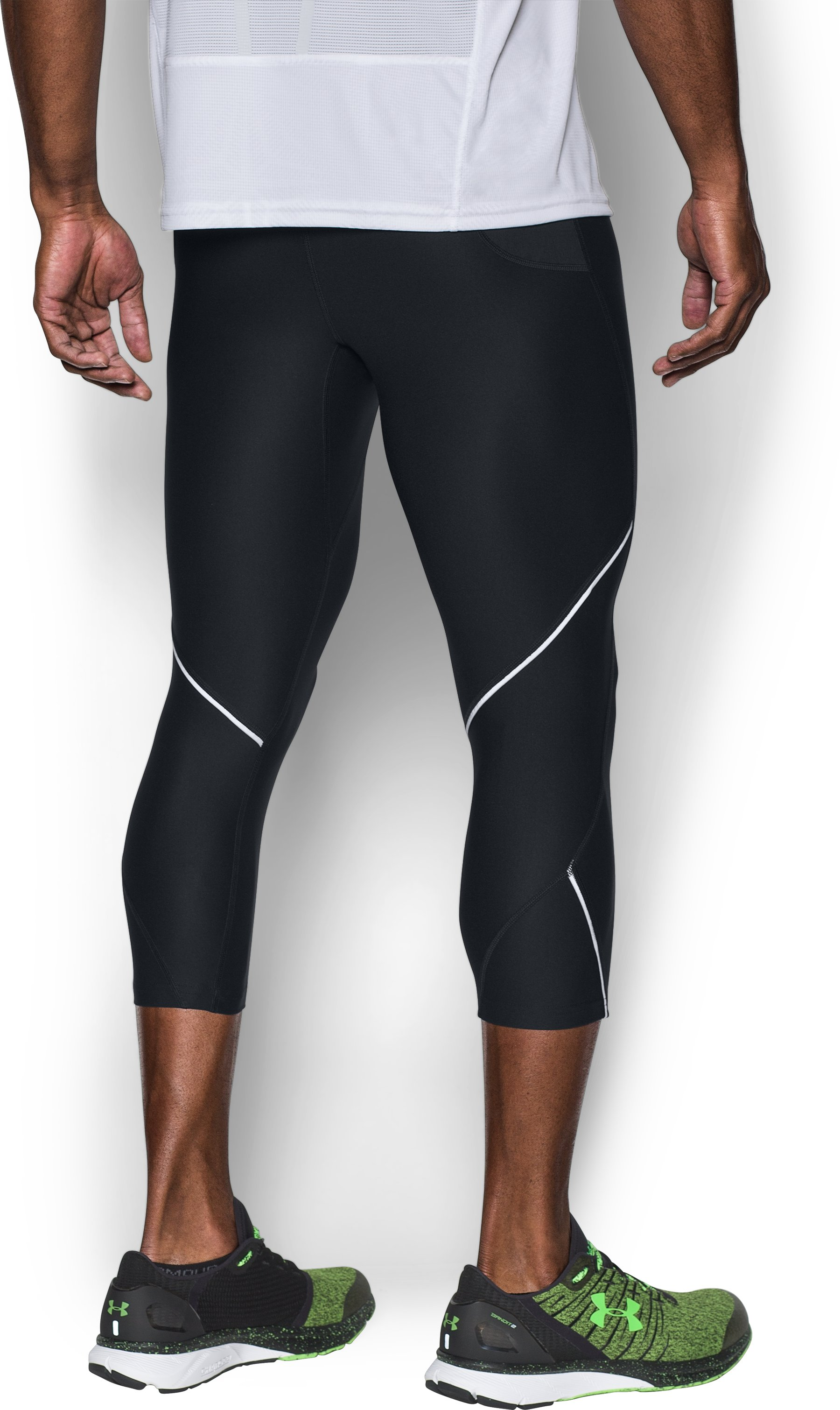 Men's UA Run True ¾ Leggings, Black
