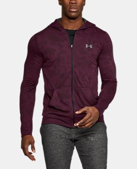 New to Outlet Men's UA Threadborne Siro Fitted Full Zip Hoodie LIMITED TIME OFFER 1 Color $34.99