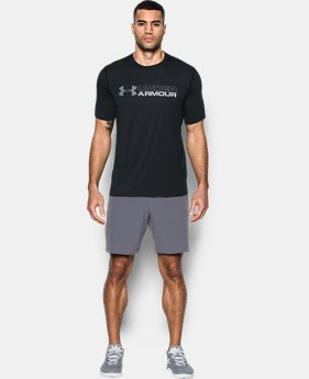 New Arrival Men's UA Threadborne Wordmark T-Shirt  1 Color $39.99