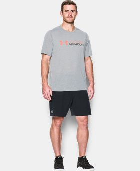 Men's UA Threadborne Wordmark T-Shirt  1 Color $18.74