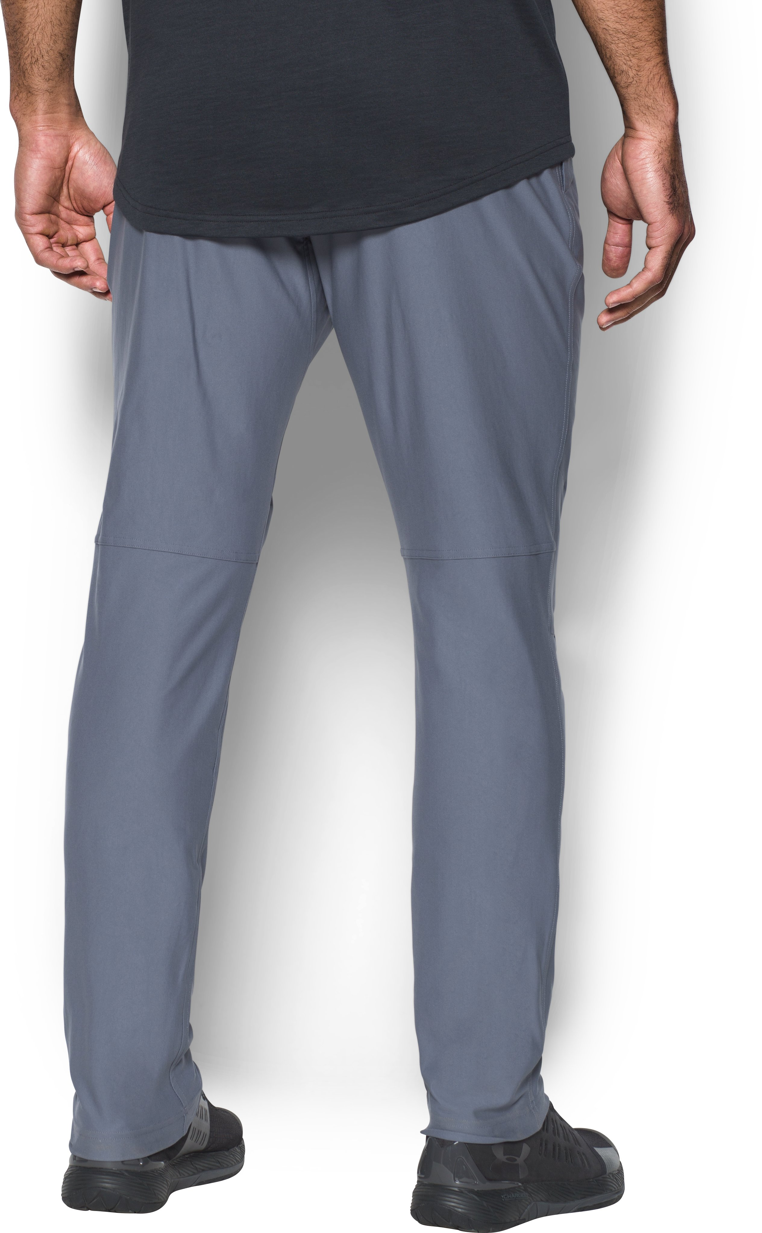 Men's UA Elevated Knit Pants, APOLLO GRAY, undefined