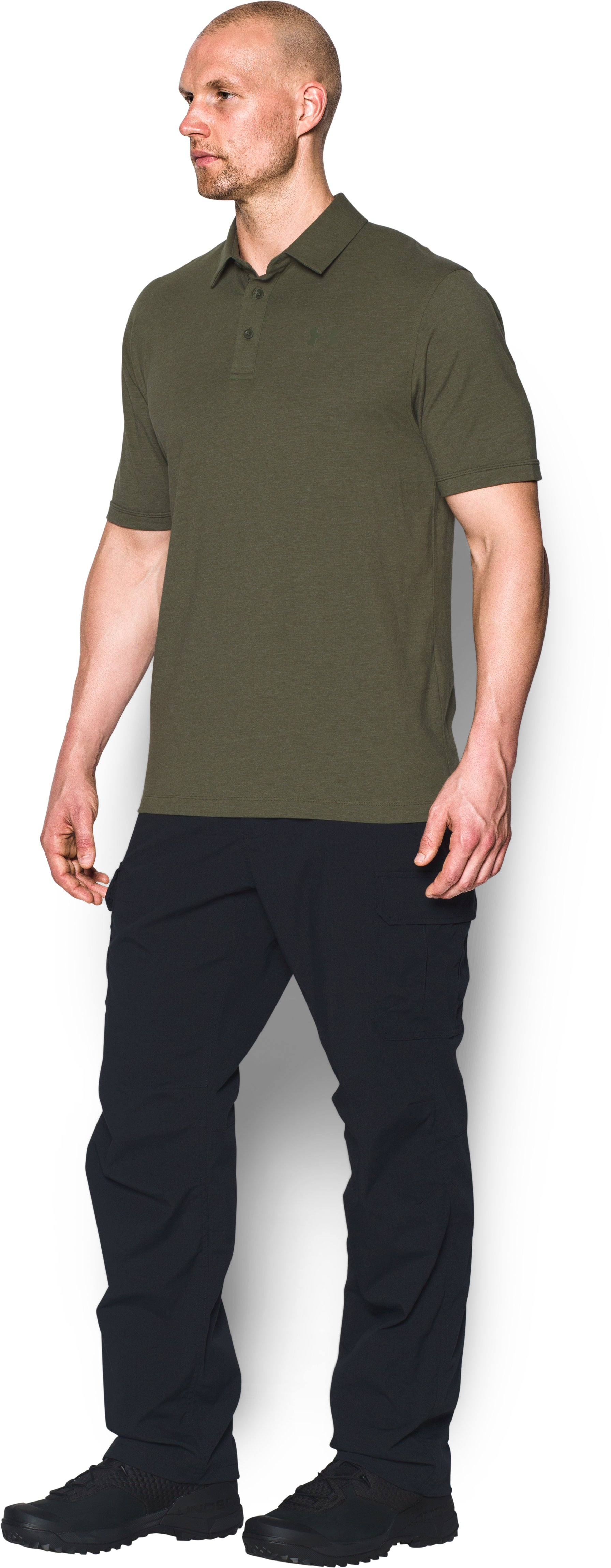 Men's UA Tactical Charged Cotton® Polo, Marine OD Green, undefined